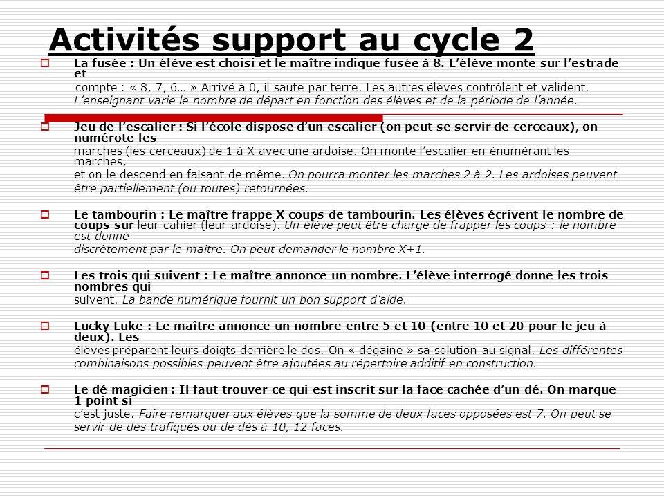 Activités support au cycle 2