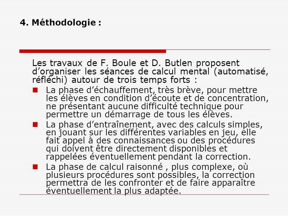 4. Méthodologie :