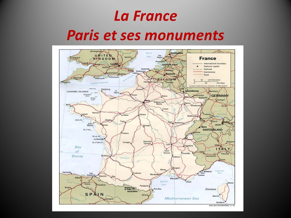 La France Paris et ses monuments
