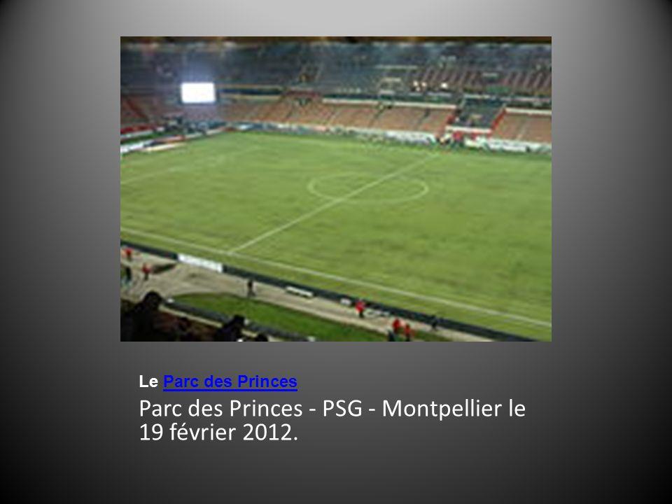 Parc des Princes - PSG - Montpellier le 19 février 2012.