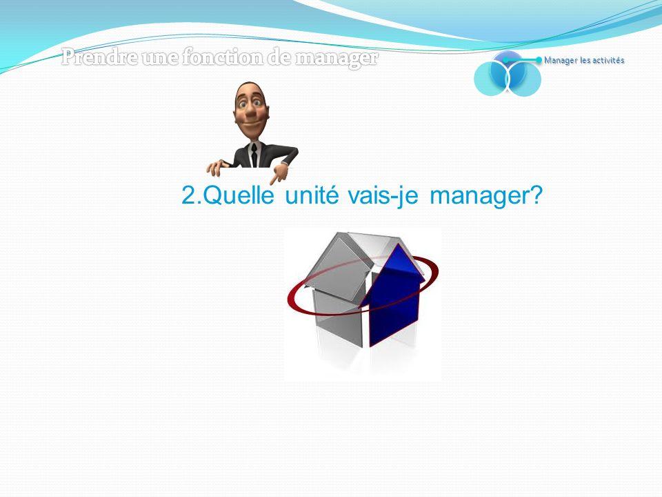 2.Quelle unité vais-je manager
