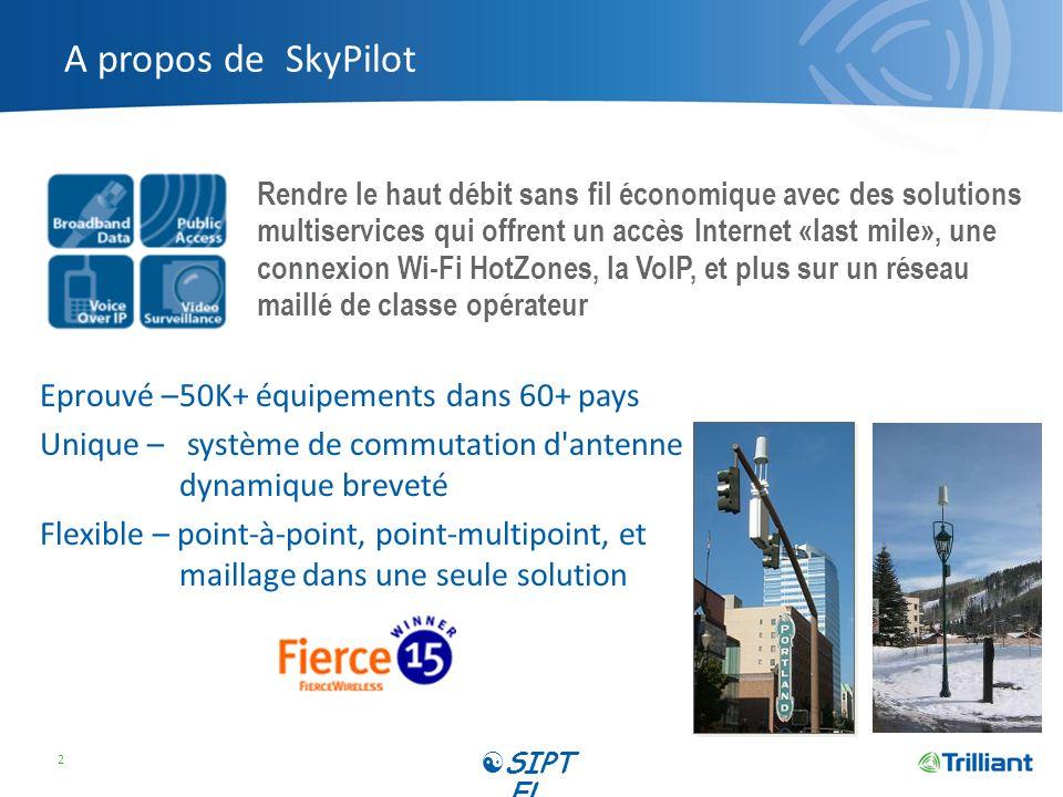 A propos de SkyPilot Eprouvé – 50K+ équipements dans 60+ pays