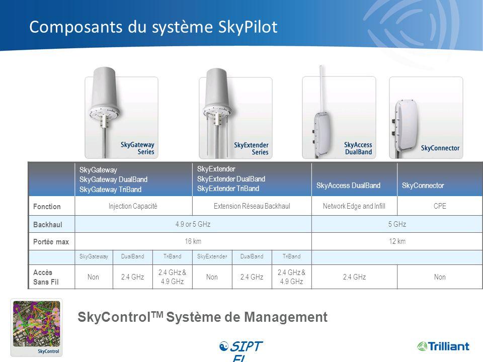 Composants du système SkyPilot