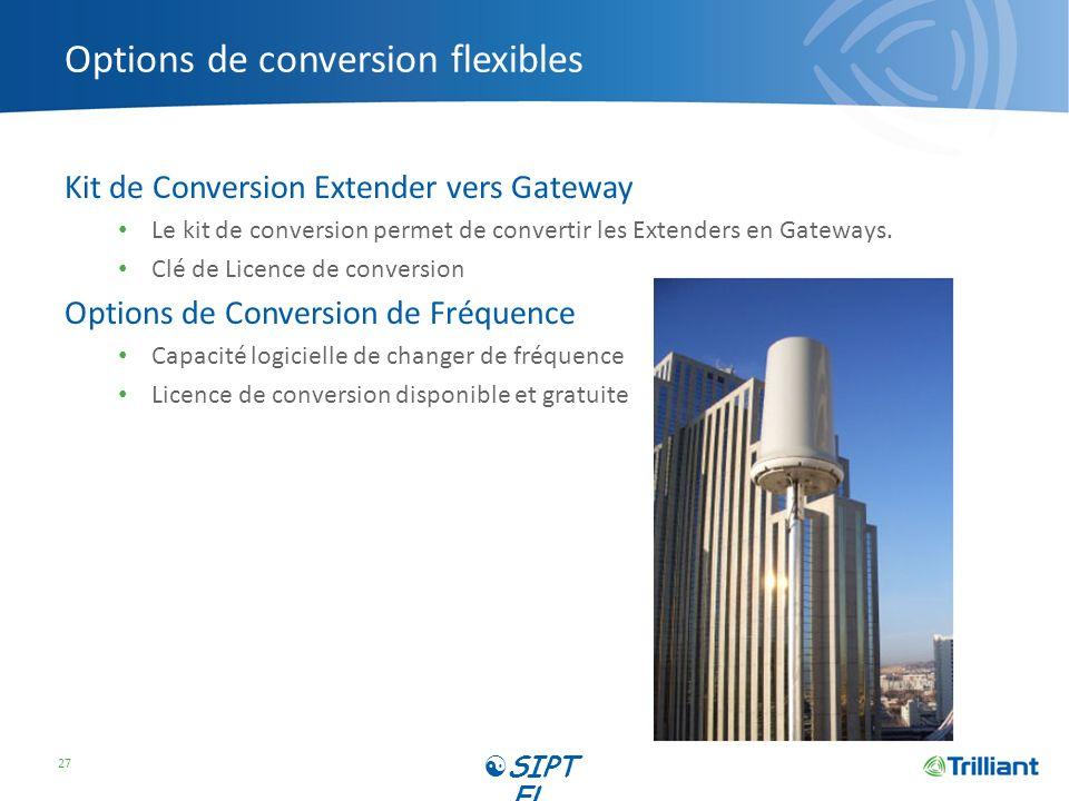 Options de conversion flexibles