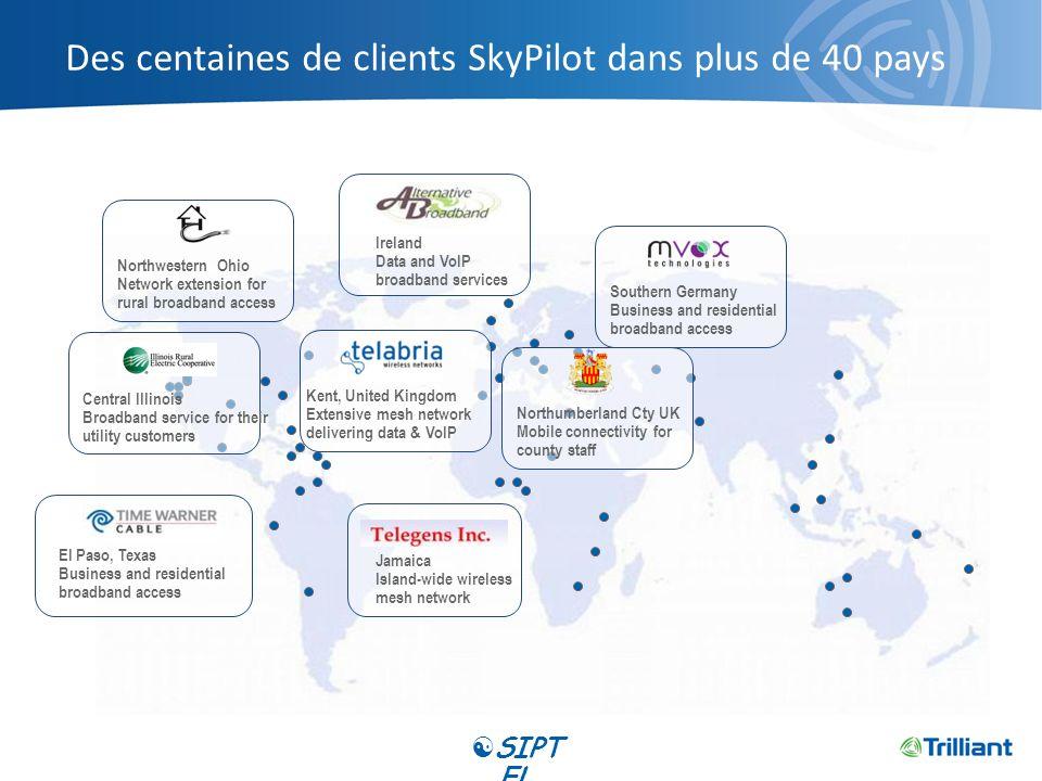 Des centaines de clients SkyPilot dans plus de 40 pays