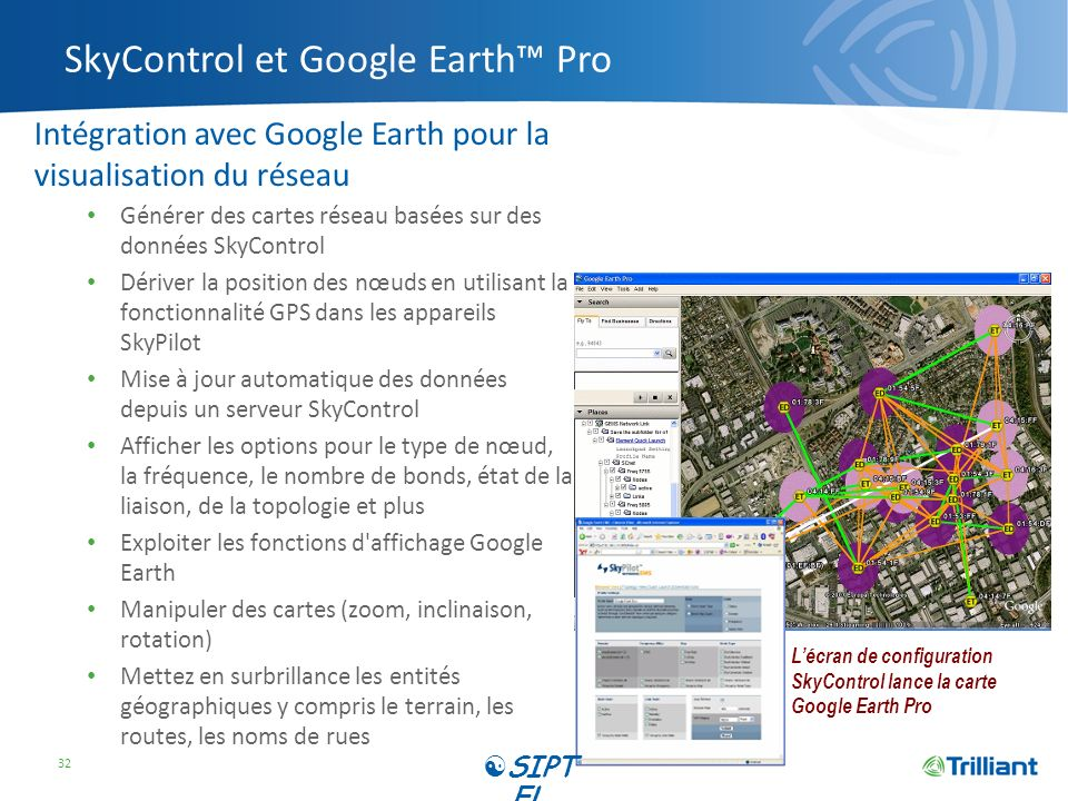SkyControl et Google Earth™ Pro