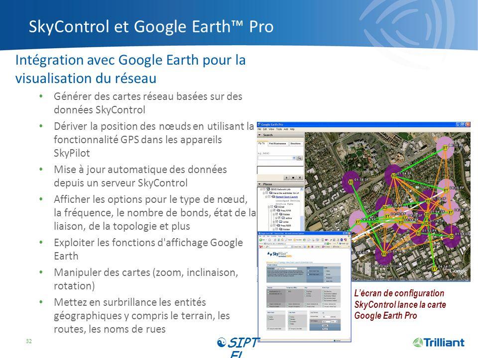 SkyControl et Google Earth™ Pro