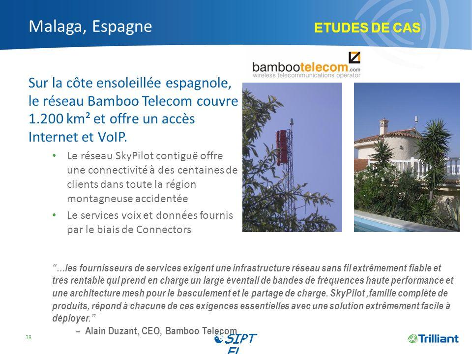 Malaga, Espagne ETUDES DE CAS. Sur la côte ensoleillée espagnole, le réseau Bamboo Telecom couvre 1.200 km² et offre un accès Internet et VoIP.