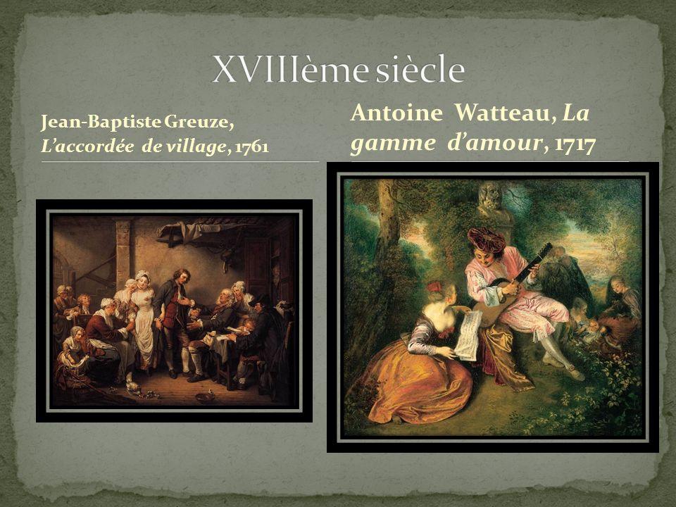 XVIIIème siècle Antoine Watteau, La gamme d'amour, 1717