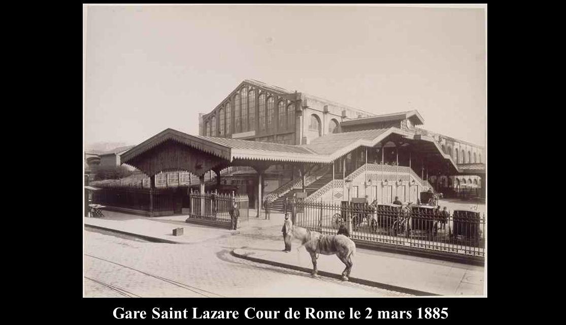 Gare Saint Lazare Cour de Rome le 2 mars 1885