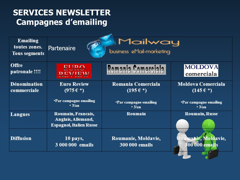 SERVICES NEWSLETTER Campagnes d' ing