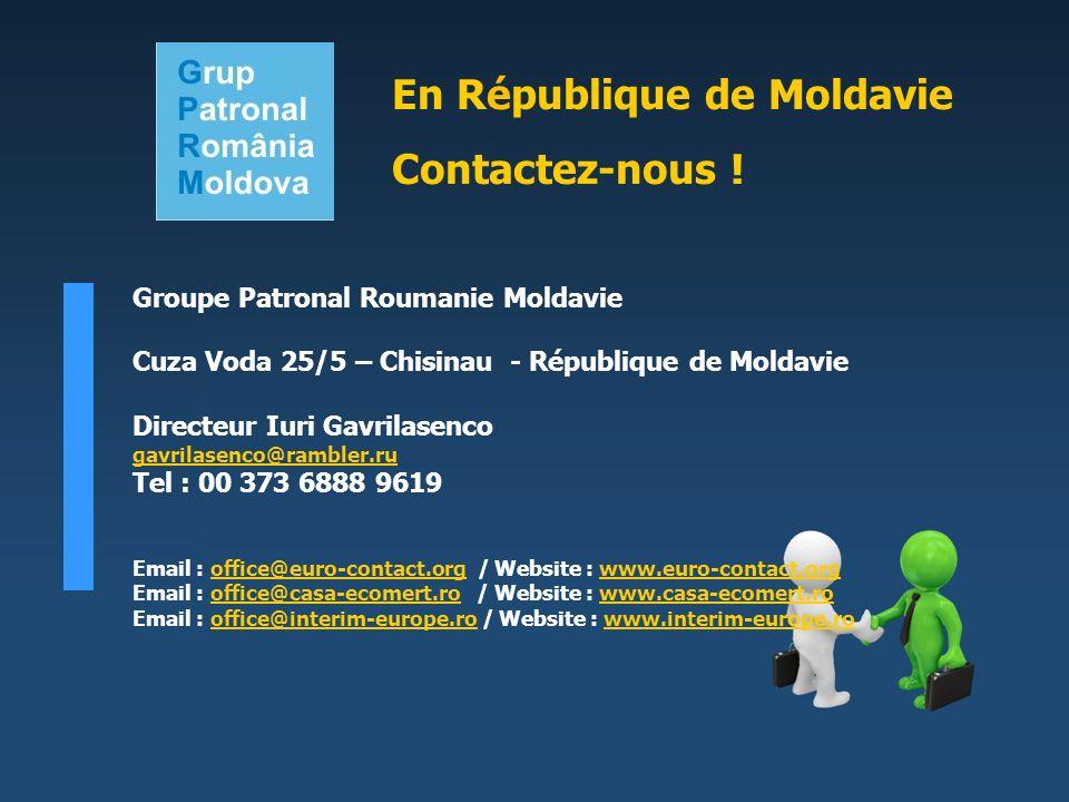 En République de Moldavie Contactez-nous !