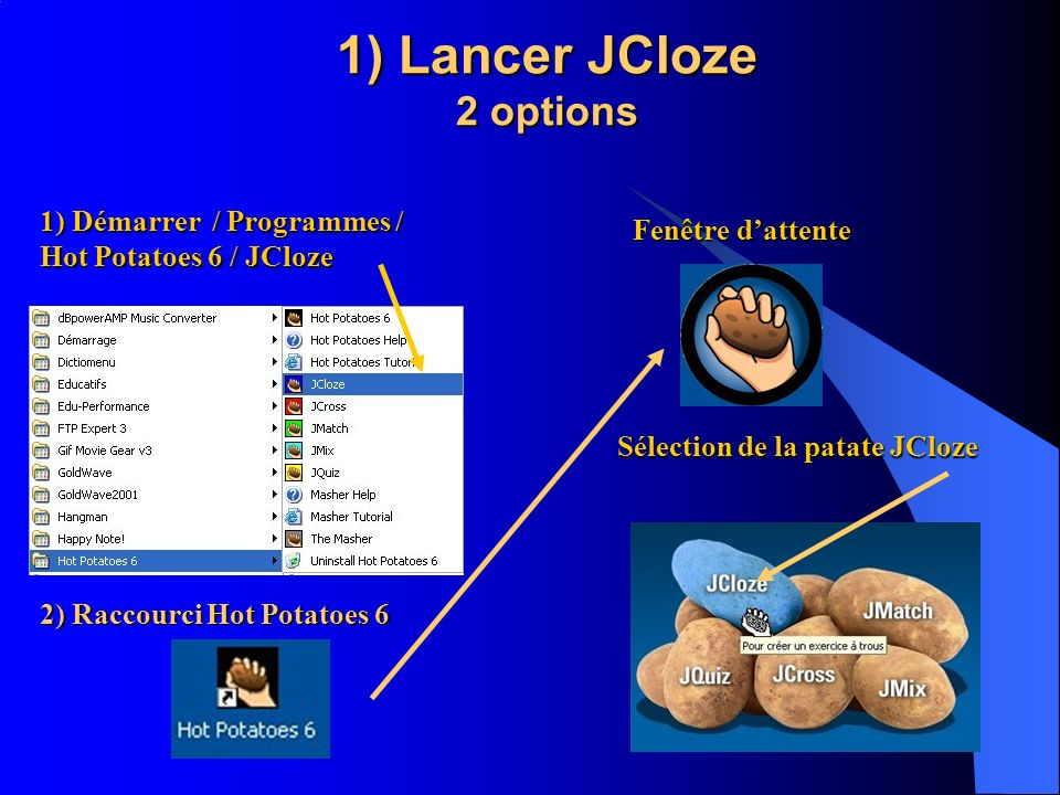 1) Lancer JCloze 2 options