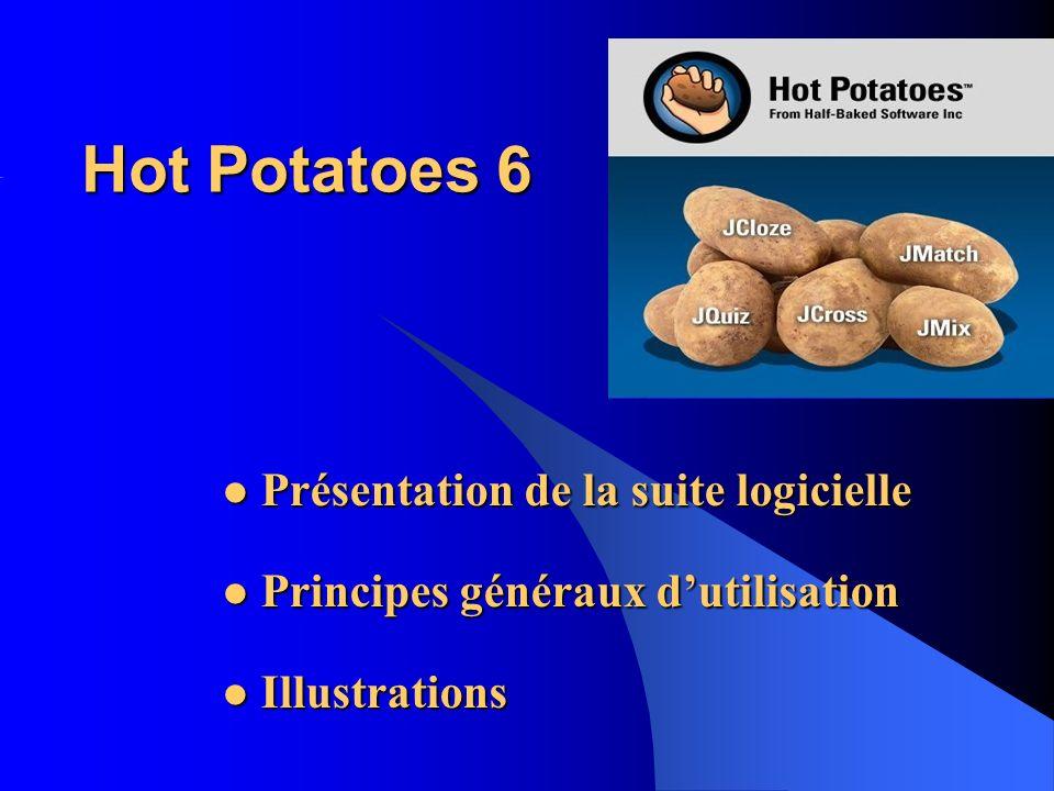 Hot Potatoes 6 Présentation de la suite logicielle