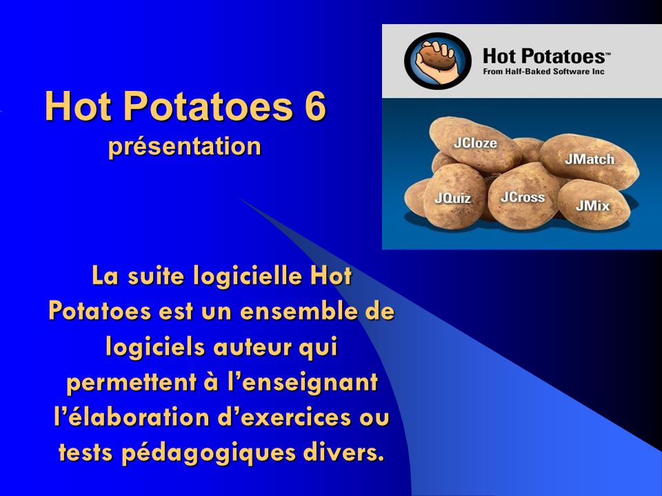 Hot Potatoes 6 présentation