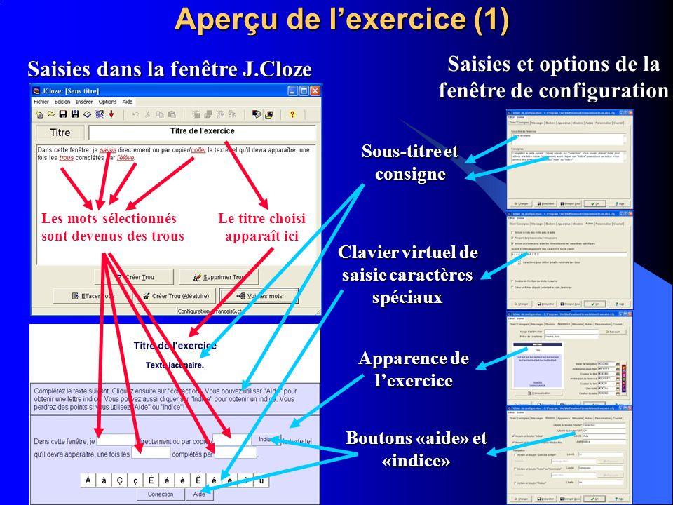 Aperçu de l'exercice (1)