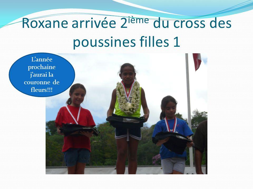 Roxane arrivée 2ième du cross des poussines filles 1