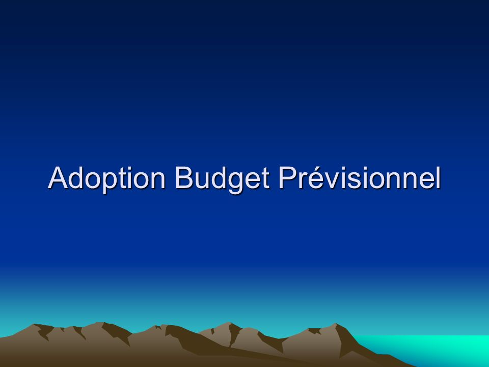 Adoption Budget Prévisionnel