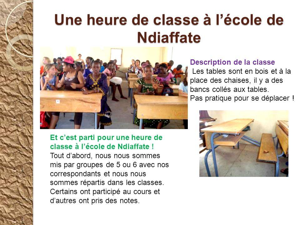 Une heure de classe à l'école de Ndiaffate