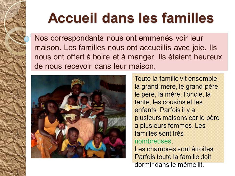 Accueil dans les familles