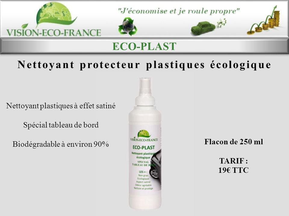 Nettoyant protecteur plastiques écologique