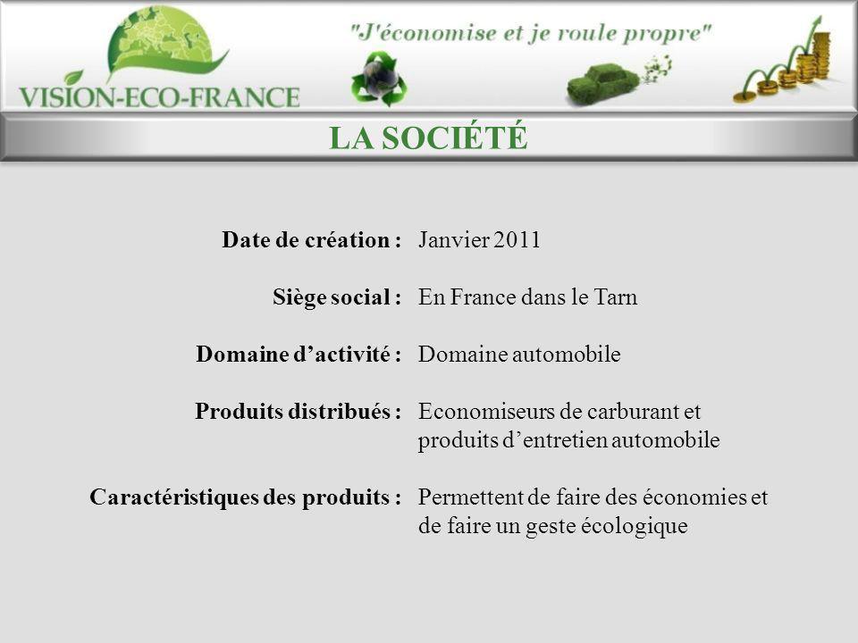 LA SOCIÉTÉ Date de création : Janvier 2011 Siège social :