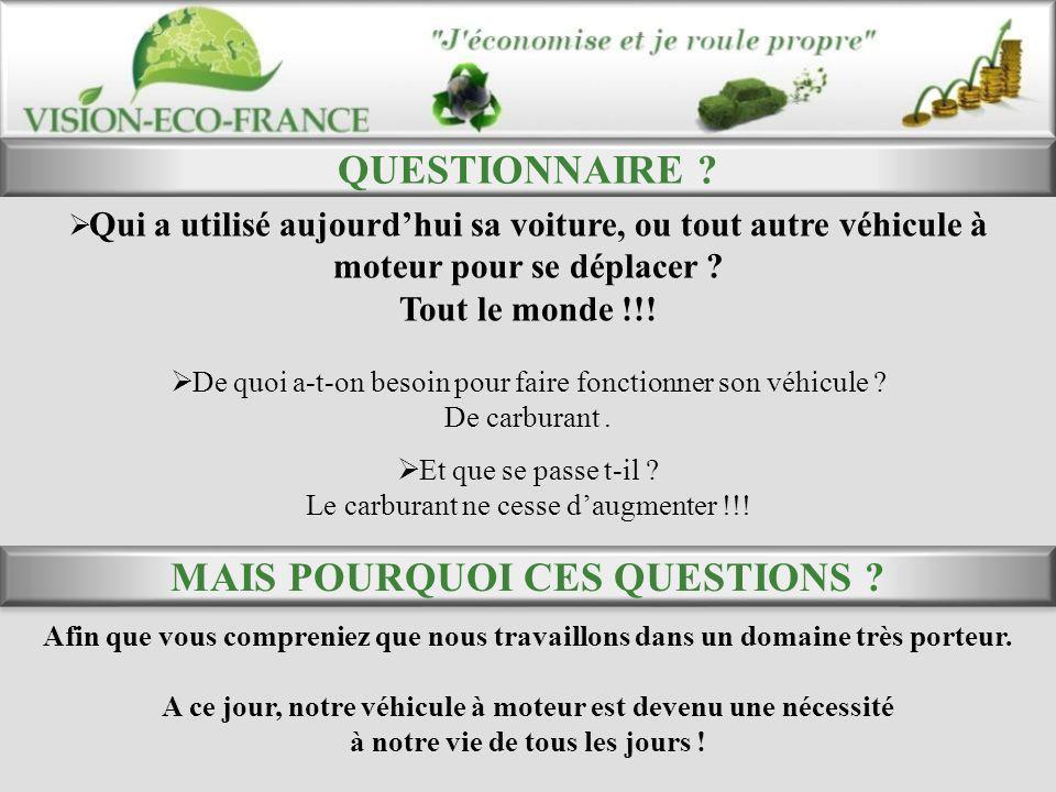 QUESTIONNAIRE MAIS POURQUOI CES QUESTIONS