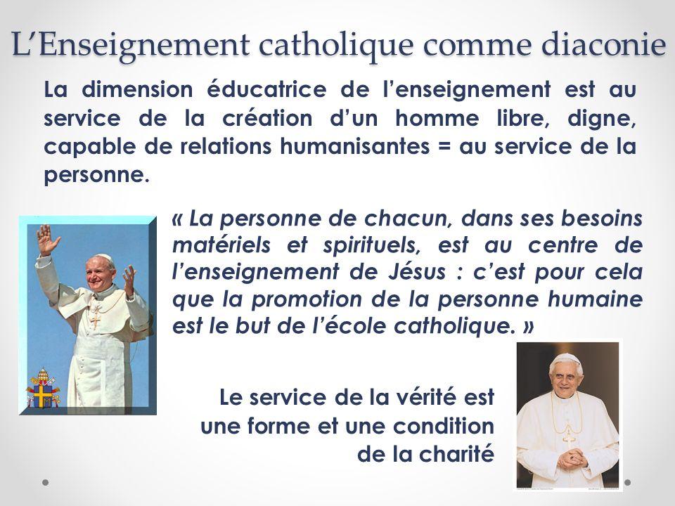 L'Enseignement catholique comme diaconie