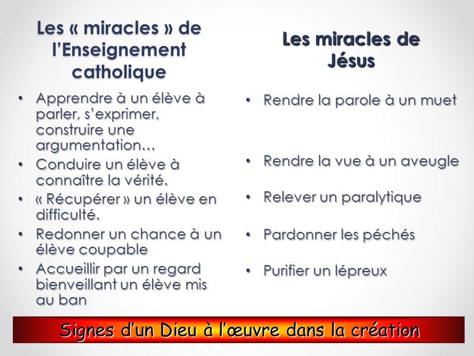 Les « miracles » de l'Enseignement catholique