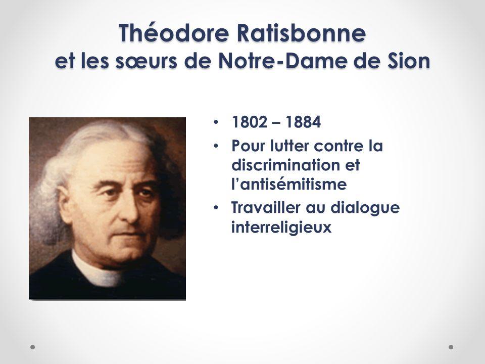 Théodore Ratisbonne et les sœurs de Notre-Dame de Sion