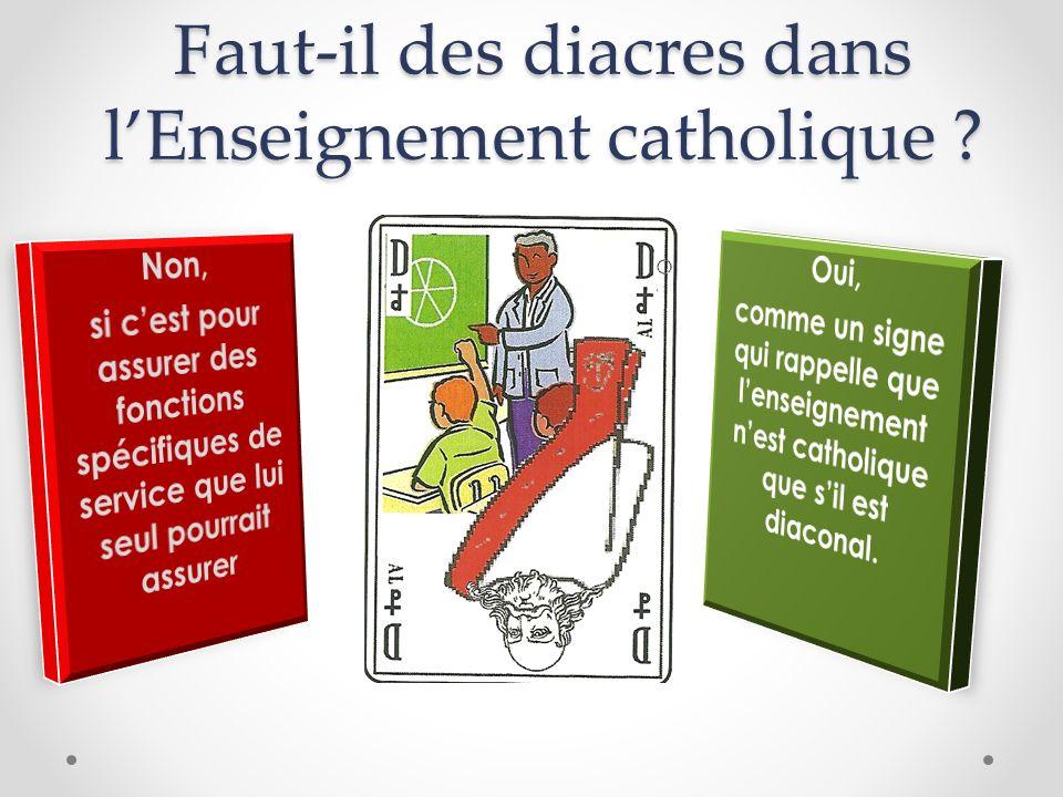 Faut-il des diacres dans l'Enseignement catholique