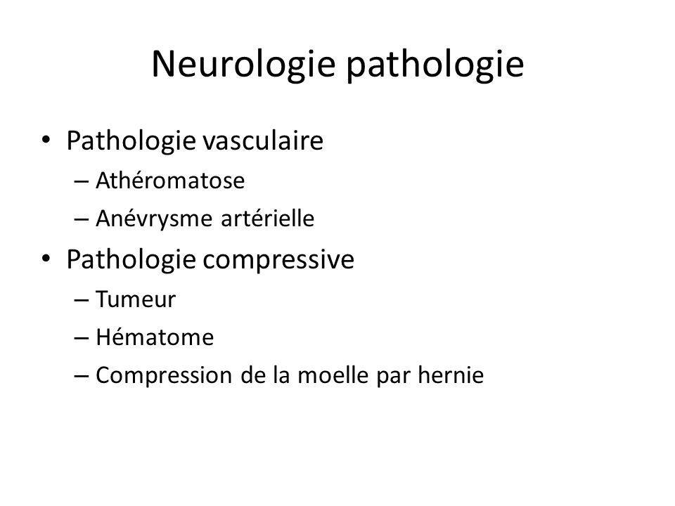 Neurologie pathologie