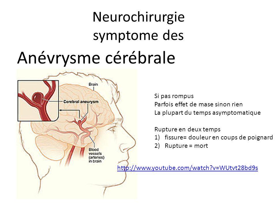 Neurochirurgie symptome des
