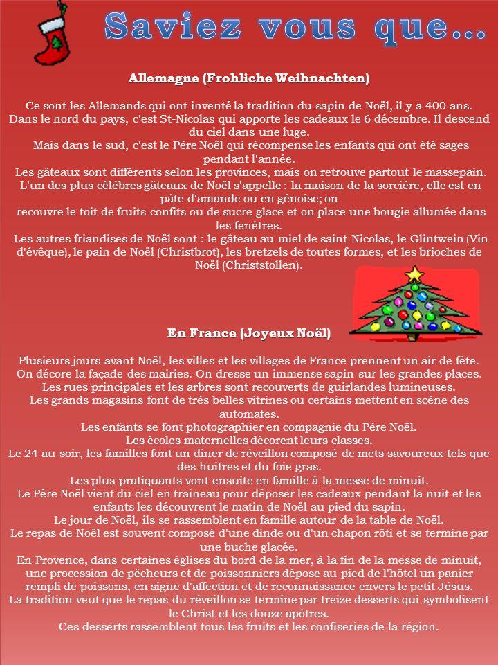 En France (Joyeux Noël)