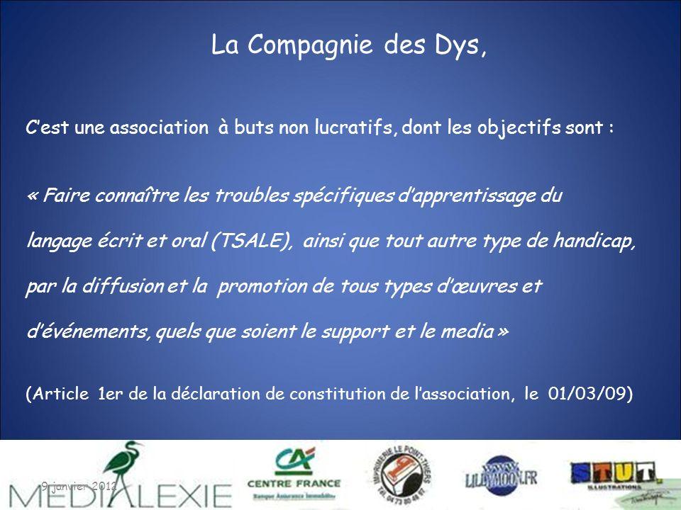 07/01/2012 C'est une association à buts non lucratifs, dont les objectifs sont : « Faire connaître les troubles spécifiques d'apprentissage du.