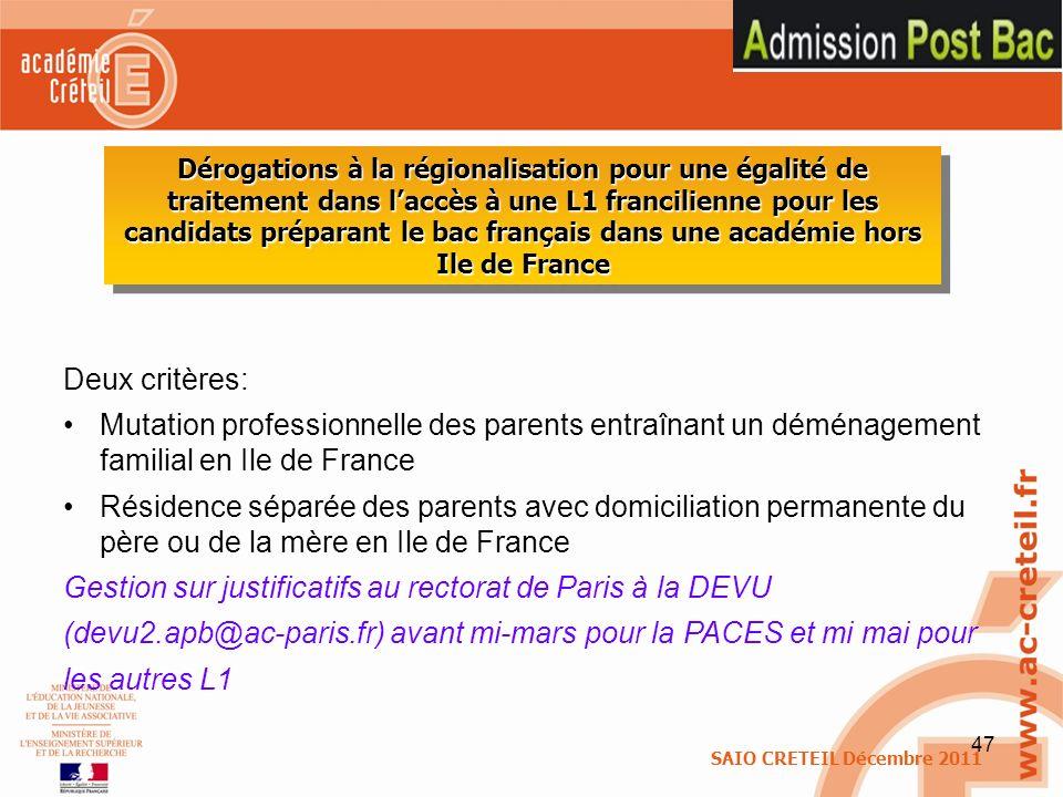 Gestion sur justificatifs au rectorat de Paris à la DEVU
