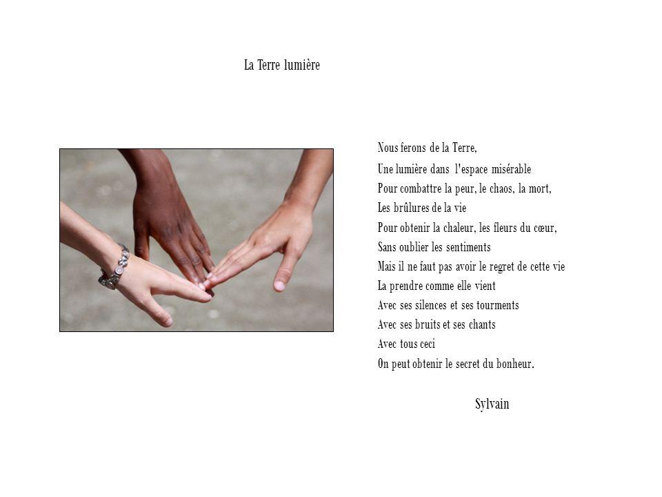Nous ferons de la Terre, La Terre lumière Sylvain