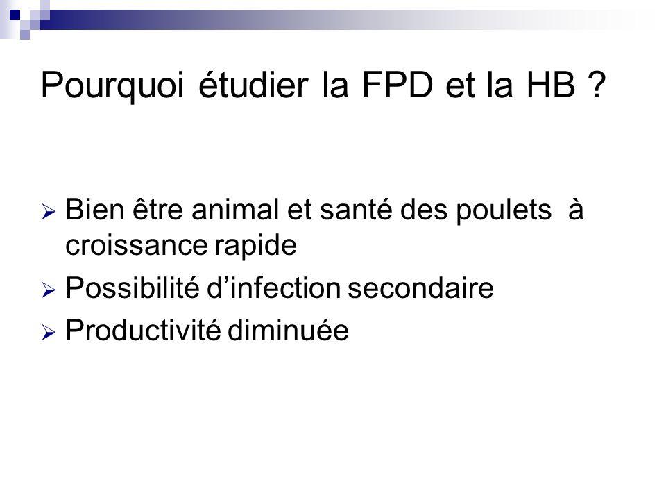 Pourquoi étudier la FPD et la HB