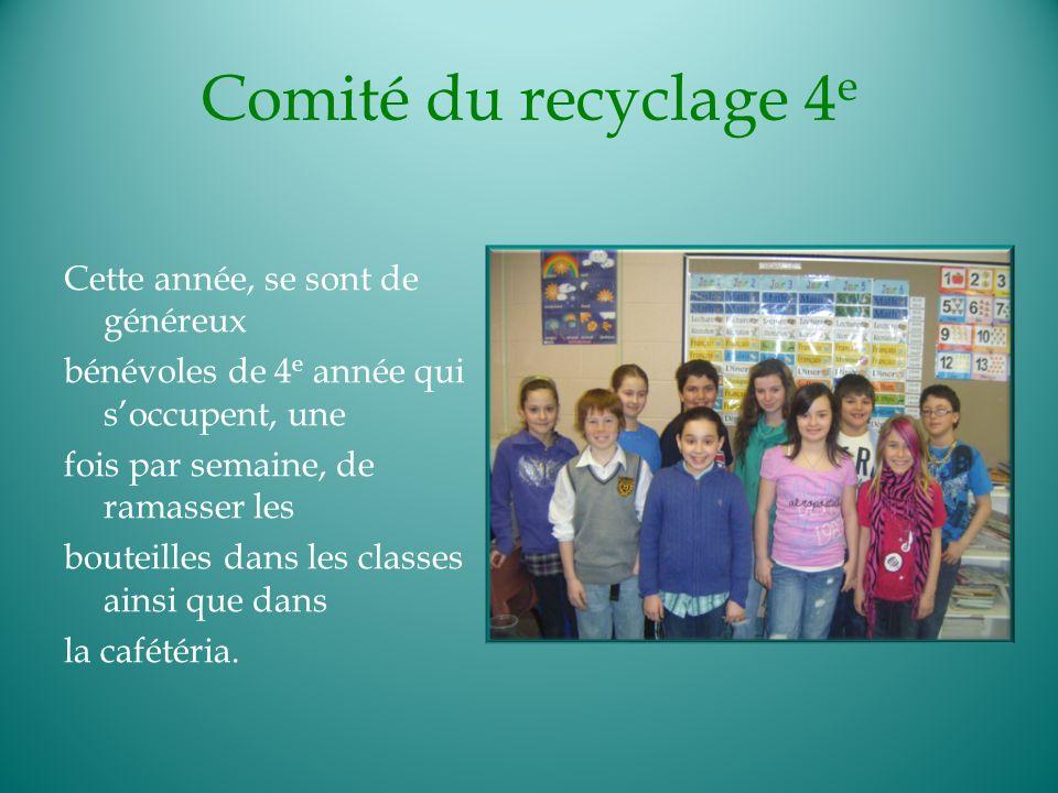 Comité du recyclage 4e