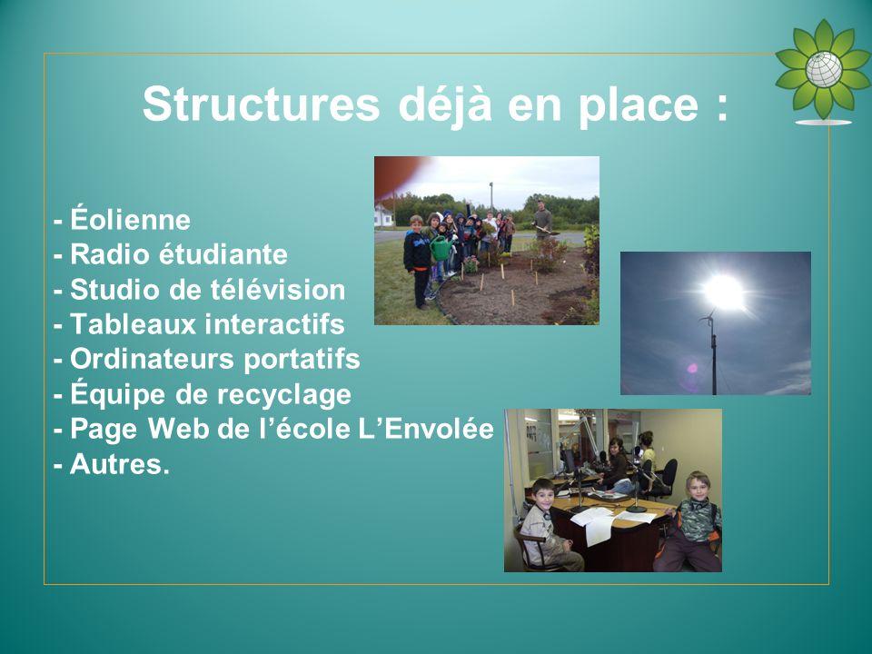 Structures déjà en place :