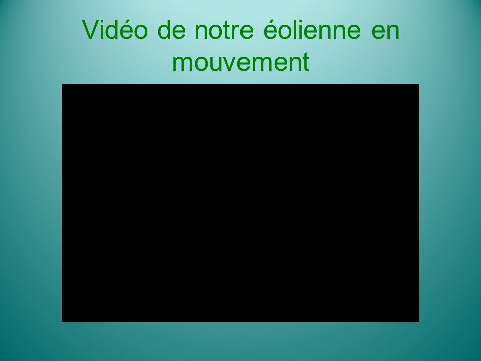 Vidéo de notre éolienne en mouvement