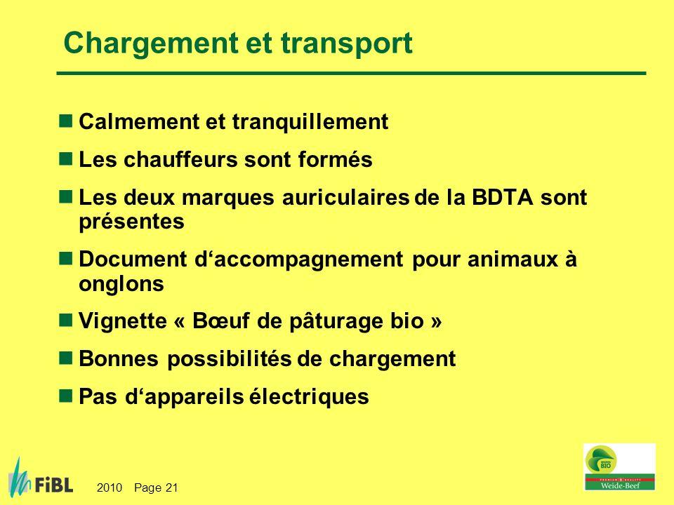 Chargement et transport