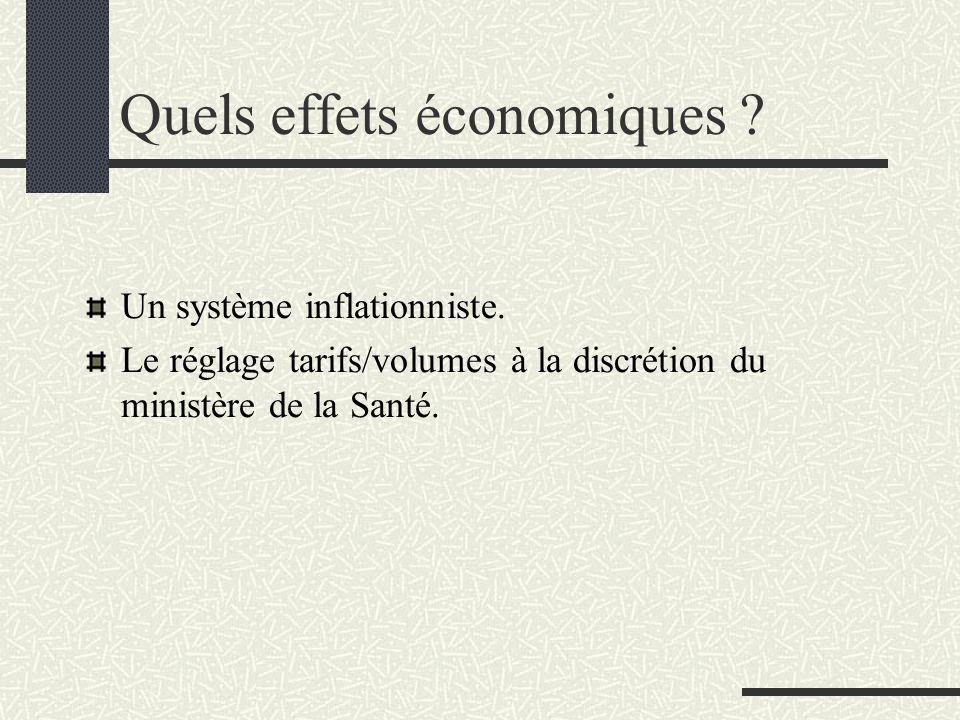 Quels effets économiques