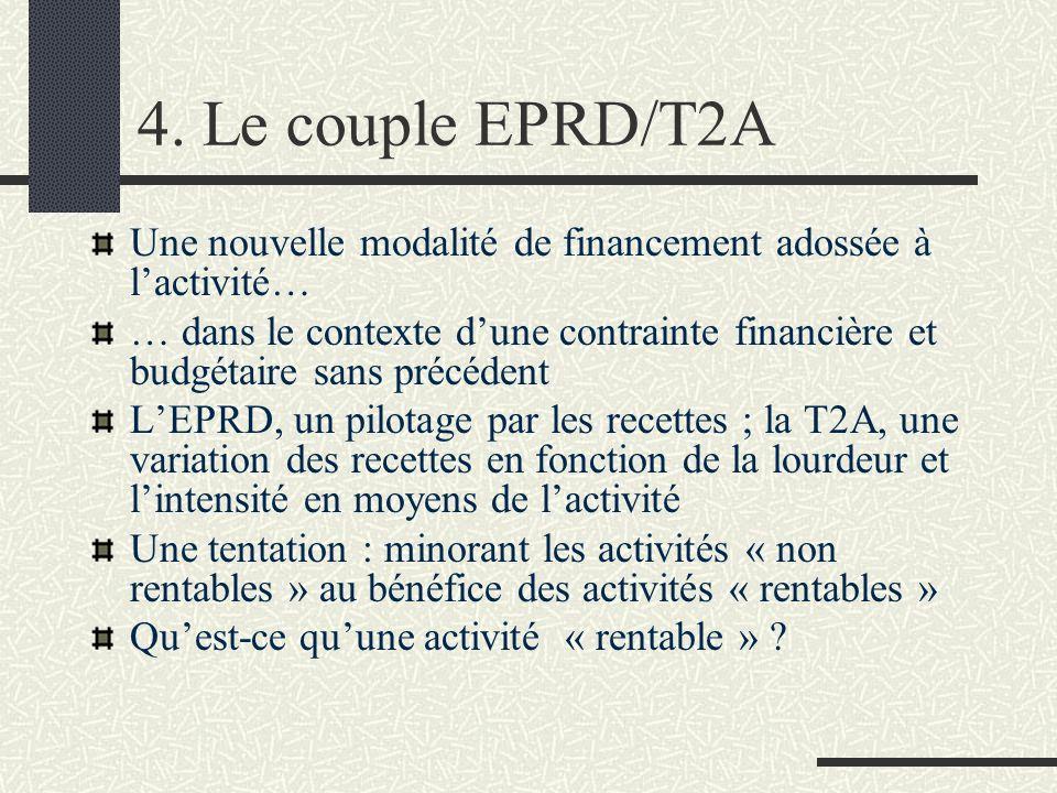 4. Le couple EPRD/T2A Une nouvelle modalité de financement adossée à l'activité…