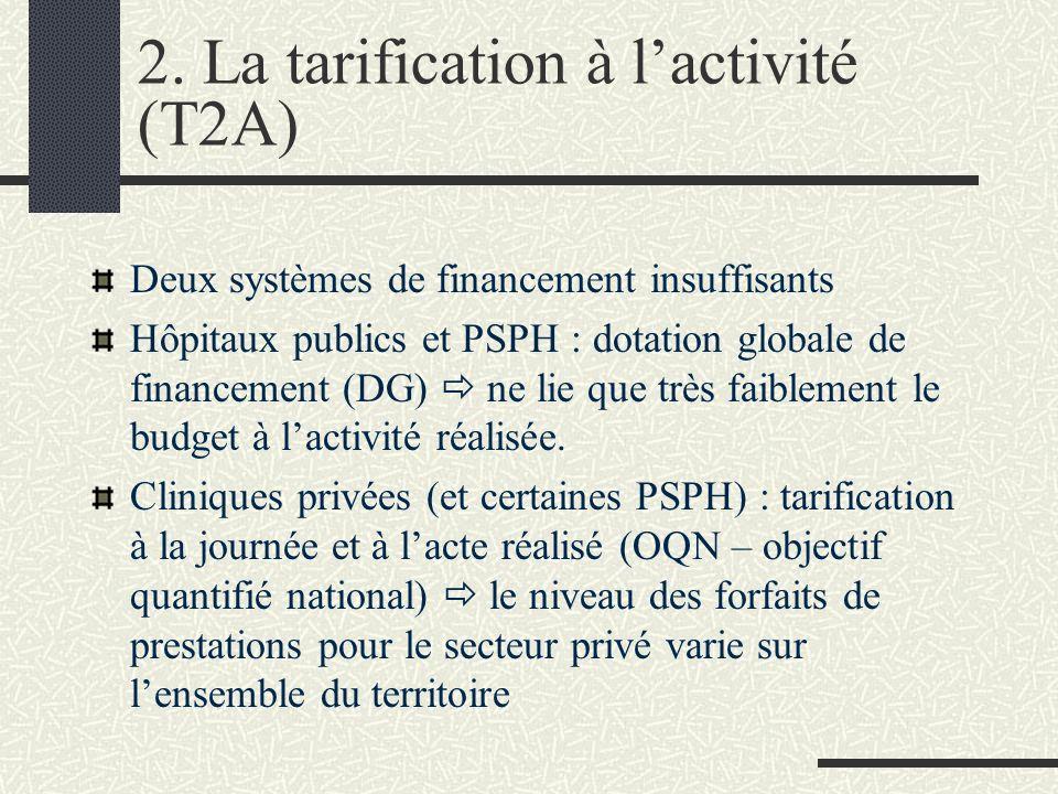 2. La tarification à l'activité (T2A)