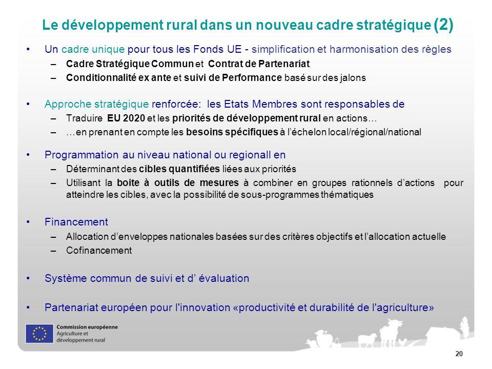 Le développement rural dans un nouveau cadre stratégique (2)