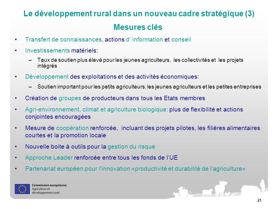 Le développement rural dans un nouveau cadre stratégique (3)