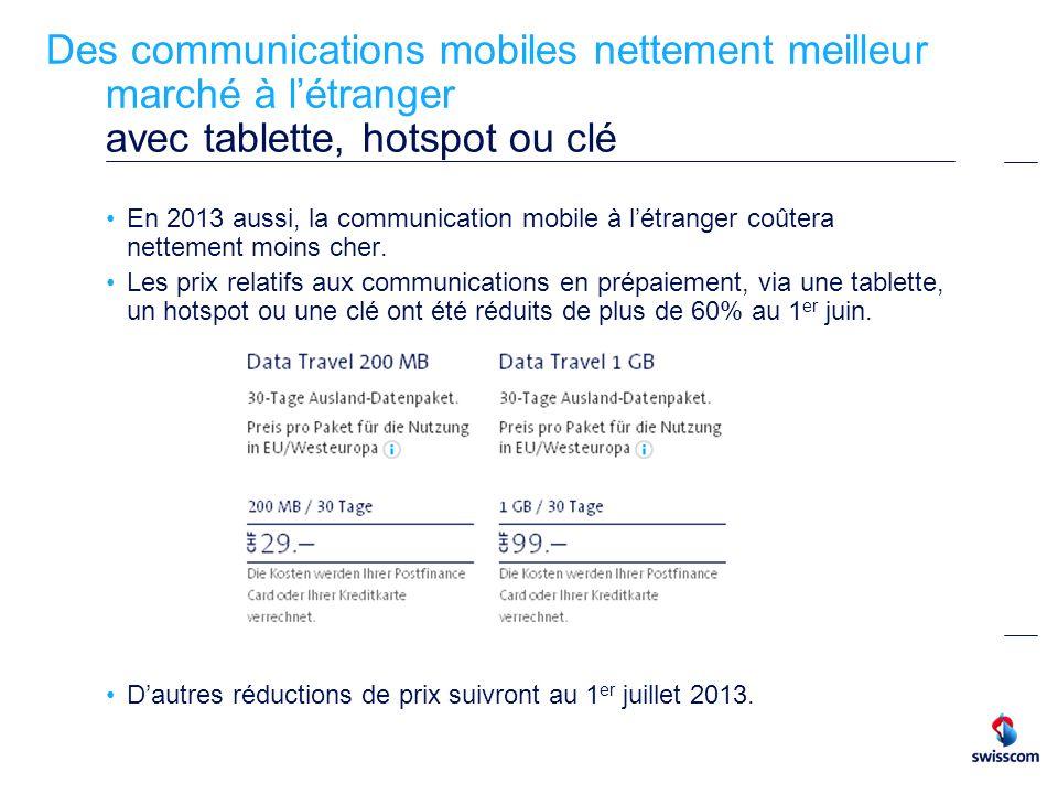Des communications mobiles nettement meilleur marché à l'étranger avec tablette, hotspot ou clé
