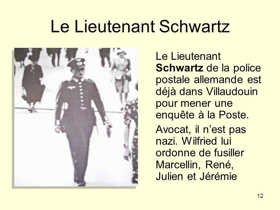 Le Lieutenant Schwartz
