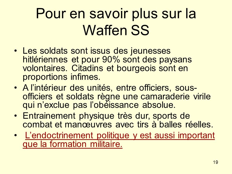 Pour en savoir plus sur la Waffen SS